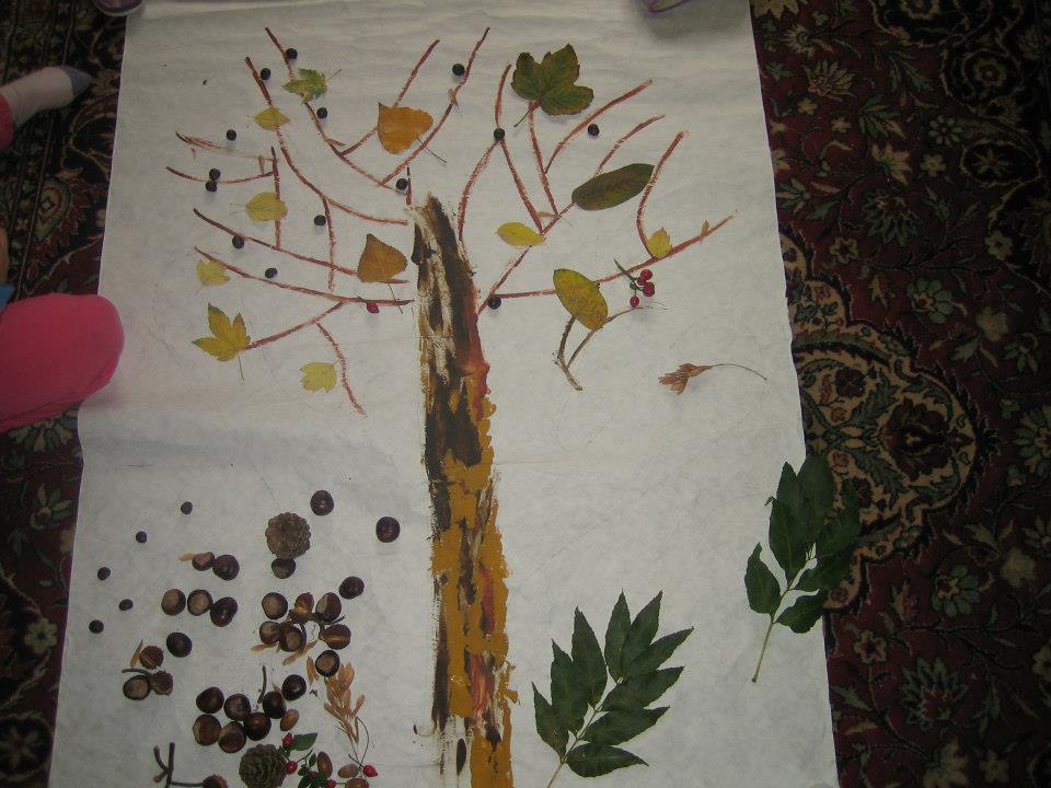 """Papierov si vystrihnite vtáčiky a """"pasaďte ich na konáre stromu"""
