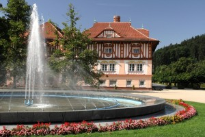 Jurkovič s fontánou
