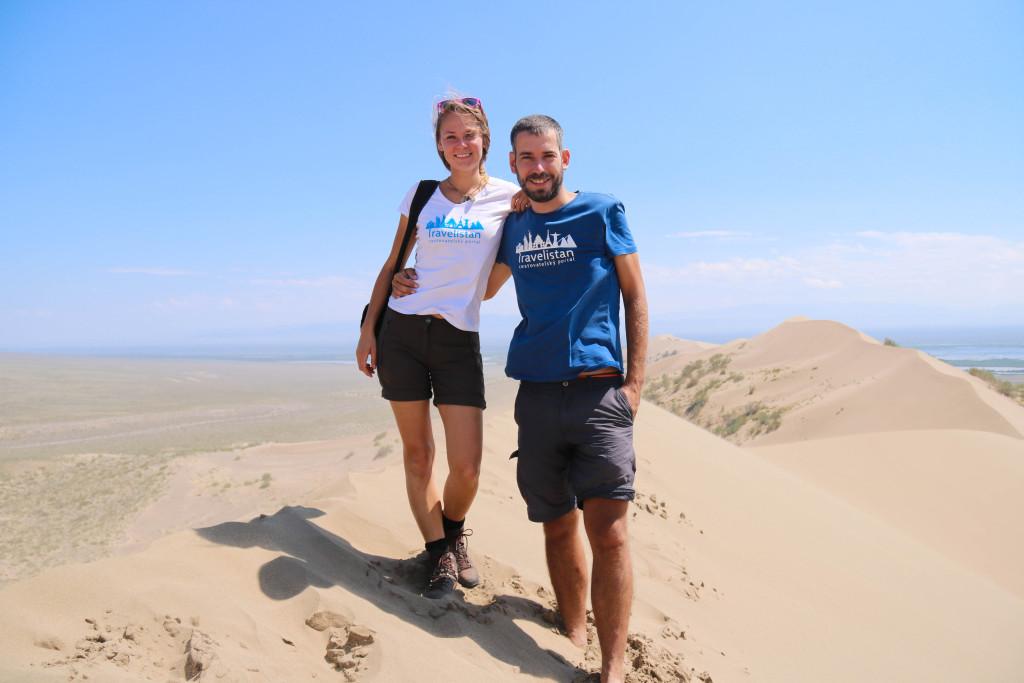 Kazachstan, spievajúce duny v parku Altyn Emel